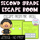 Adding & Subtracting up to 20 DIGITAL & INTERACTIVE Escape Activity-2nd Grade