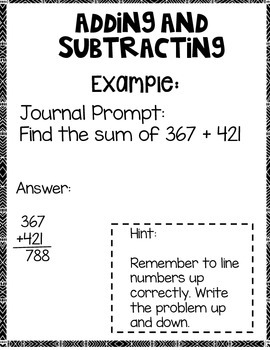 Adding and Subtracting within in 1,000