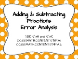 Adding and Subtracting Fractions Analysis TEK 5.3H and 5.3K