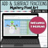 Adding and Subtraction Fractions | Mystery Pixel Pictures | Google Sheets