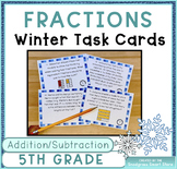 Fractions Word Problems: Winter Theme (Adding and Subtract