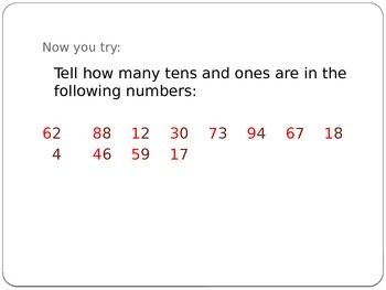 Adding and Subtraction using Tens and Ones PowerPoint