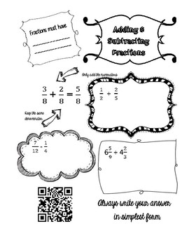 Adding and Subtracting Fractions Review Notes