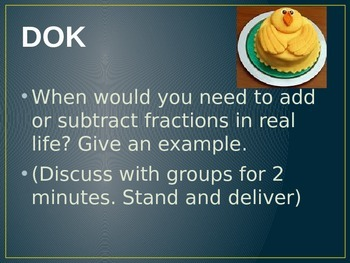 Adding and Subtrcating Fractions