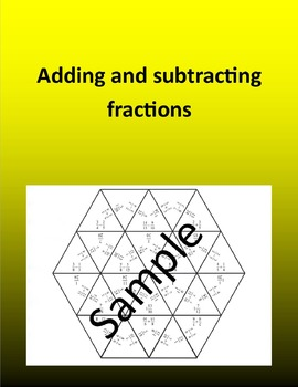 Adding and subtracting fractions 2 – Math puzzle
