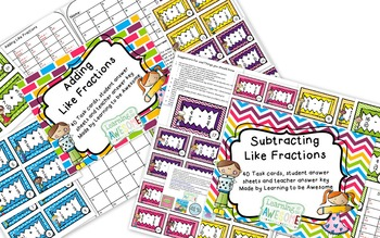 Adding and subtracting fractions bundle