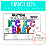 Winter Theme: Adding and Subtracting Fractions- color by number