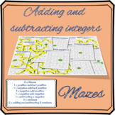 Adding and subtracting integers mazes