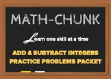 Adding and subtracting positive and negative integers Prac