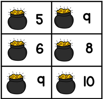 Adding by Counting On Sums Within 10  Matching Cards  Grades K - 1