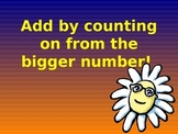 Adding by Counting on from the Bigger Number