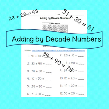 Adding by Decade Numbers