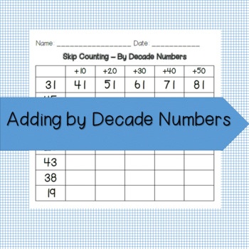 Adding Decade Numbers Teaching Resources | Teachers Pay Teachers