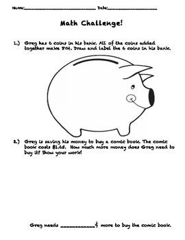 Adding coins-Critical Thinking