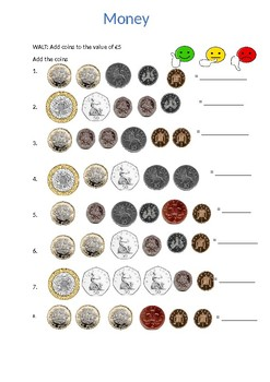 Adding coins to £5