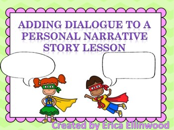 how to insert dialogue in a story