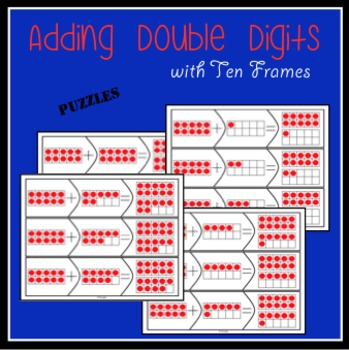 Adding double digits with ten frames