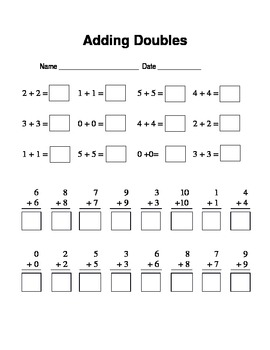 Adding doubles to 20 and progress check