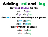 Adding -ed and -ing Poster