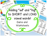Adding ed & ing to Long and Short Vowel Words {Game & Worksheets!}