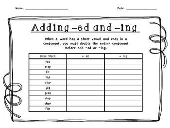 adding ing to verbs worksheet pdf
