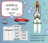 FREE Adding -er and -est SmartBoard Lesson for Primary Grades