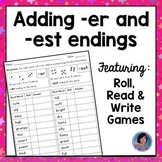 Comparative & Superlative Endings Game: Adding er & est Endings {Ideal for RtI}