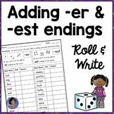 Comparative & Superlative Inflectional Endings Worksheets & Games {-er & -est}