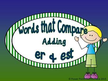 Adding er & est to compare