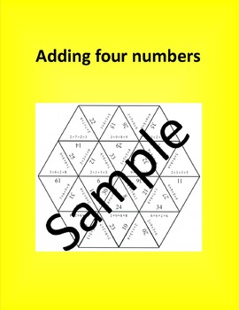 Adding four numbers – Math puzzle