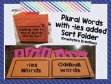 Adding -ies to Plural Words Sort Folder