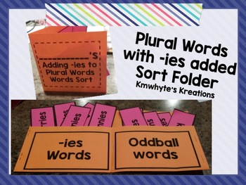 Adding -ies to Plural Words Sort Folder