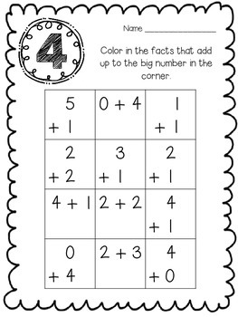 Adding in Different Formats With Addition Fact Practice Pages
