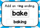 Adding ing and ed Endings: Boom Digital Task Cards