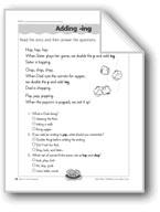 Adding '-ing' (Suffixes)