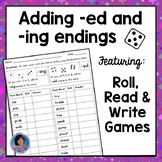 Adding ed and ing endings - Inflectional endings game & po