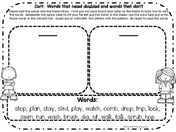 Adding ing and ed to CVC Words