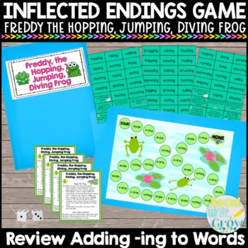 Adding -ing to Words Game {Freddy, the Hopping, Jumping, Diving Frog}