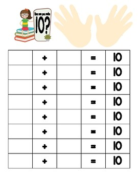 Adding numbers to Equal 10