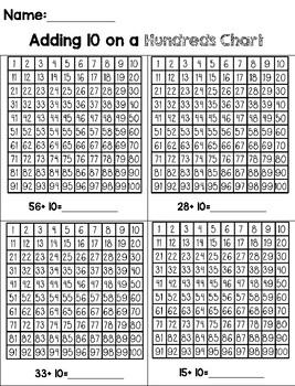 Adding on a Hundreds Chart