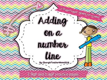 Adding on a Number Line Super Pack