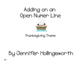 Adding on an Open Number Line - Thanksgiving Theme
