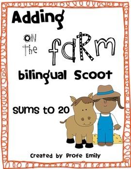 Adding on the Farm bilingual scoot