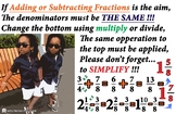 Adding or Subtracting Fractions Anchor