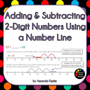 Adding and Subtracting Two-Digit Numbers on a Number Line