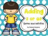Adding s or es to Words Ending in s, sh, ch, x, or z