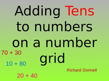 Adding tens on a number grid