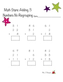 Adding three 2 digit numbers with and without regrouping