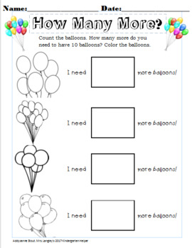 Adding to 10! Balloons Fun!