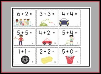 Adding to 10 Math Center Station Activity